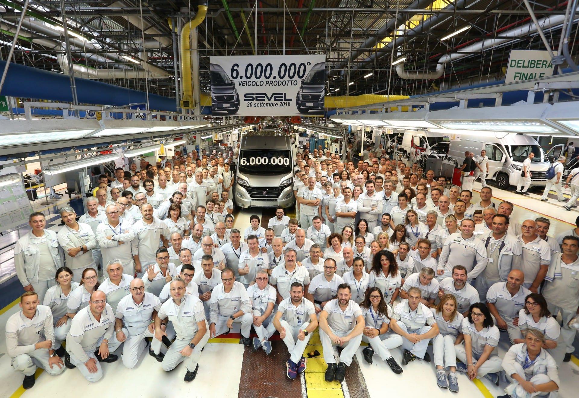 Шест милиони возила во Севел, фабриката на Ducato
